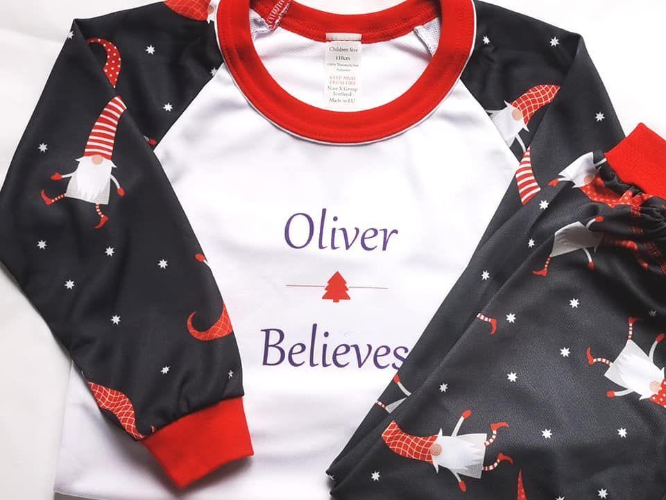 Children's Gnome Christmas Pajama Sets