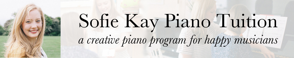 Sofie Kay Piano Tuition, site logo.