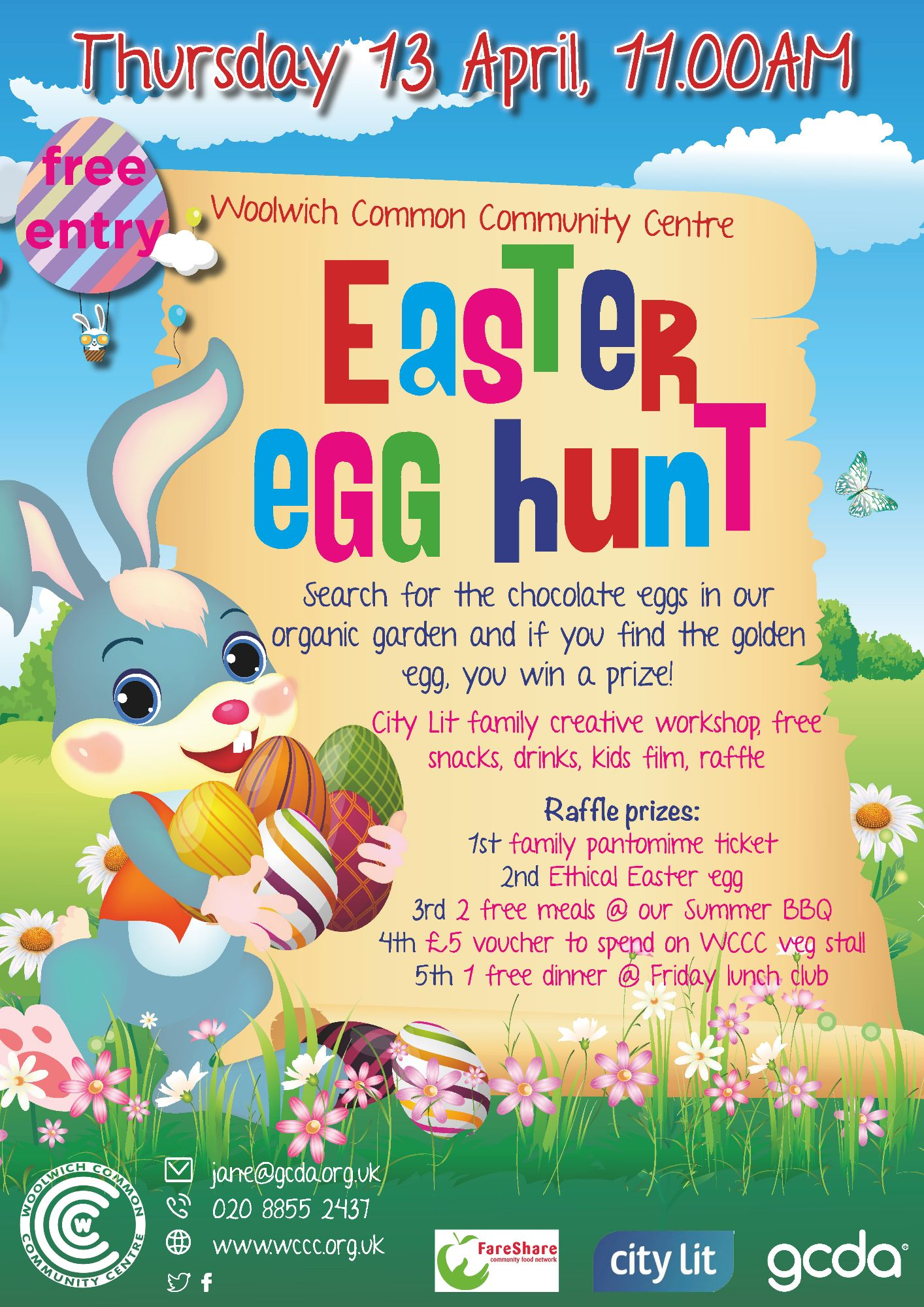 Woolwich Common Community Centre Easter Egg Hunt 2017