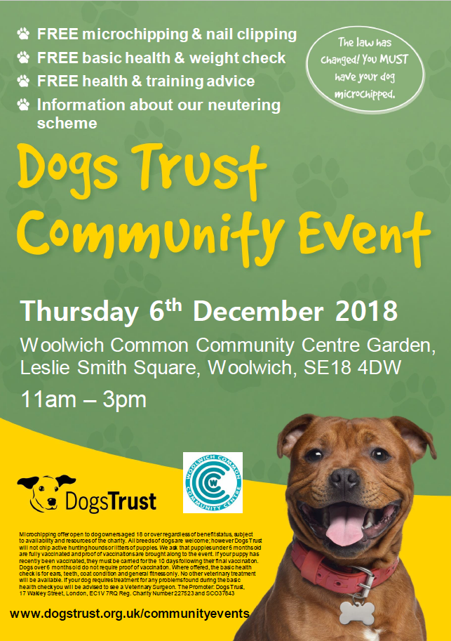 Dogs trust event 6th dec 2018