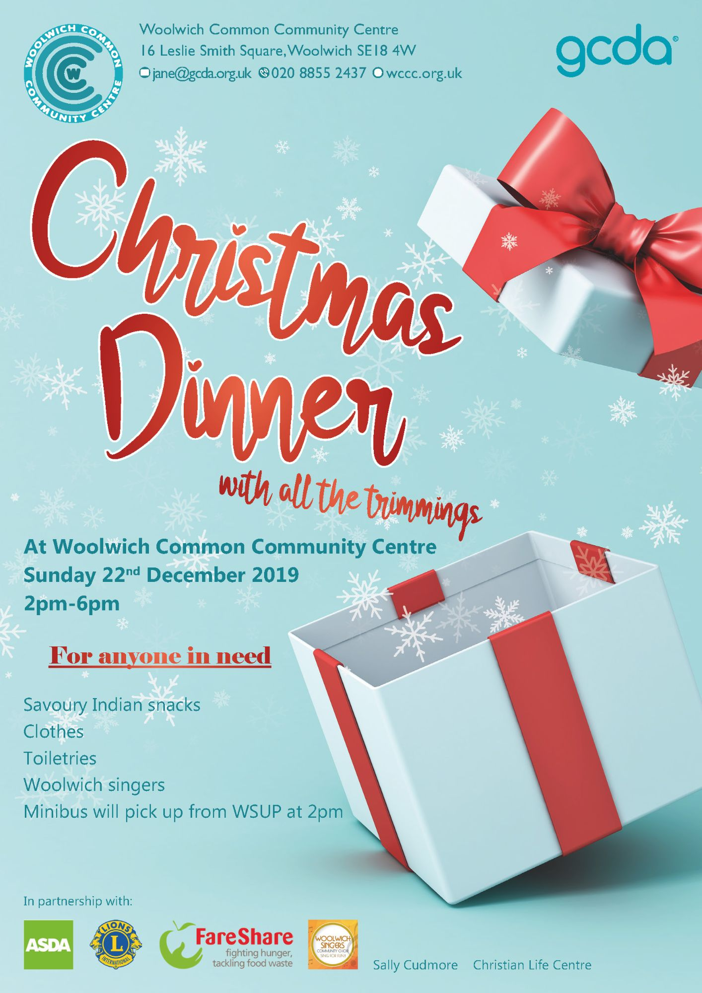 Christmas Flyer 2019 homeless