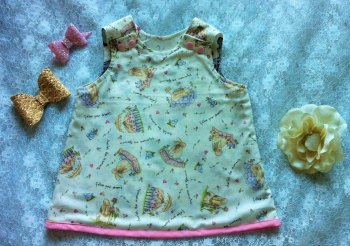 Cute Bunnies Pinafore Dress - Babies