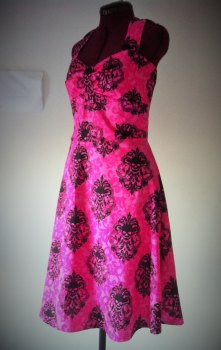 Womens Damask Sulls Dress