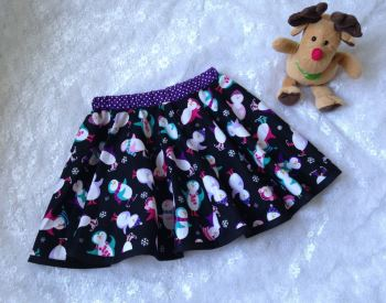 Girls Penguin Christmas skirt
