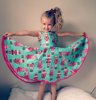 Girls Nutcracker Twirly Full circle Christmas Dress, Festive party