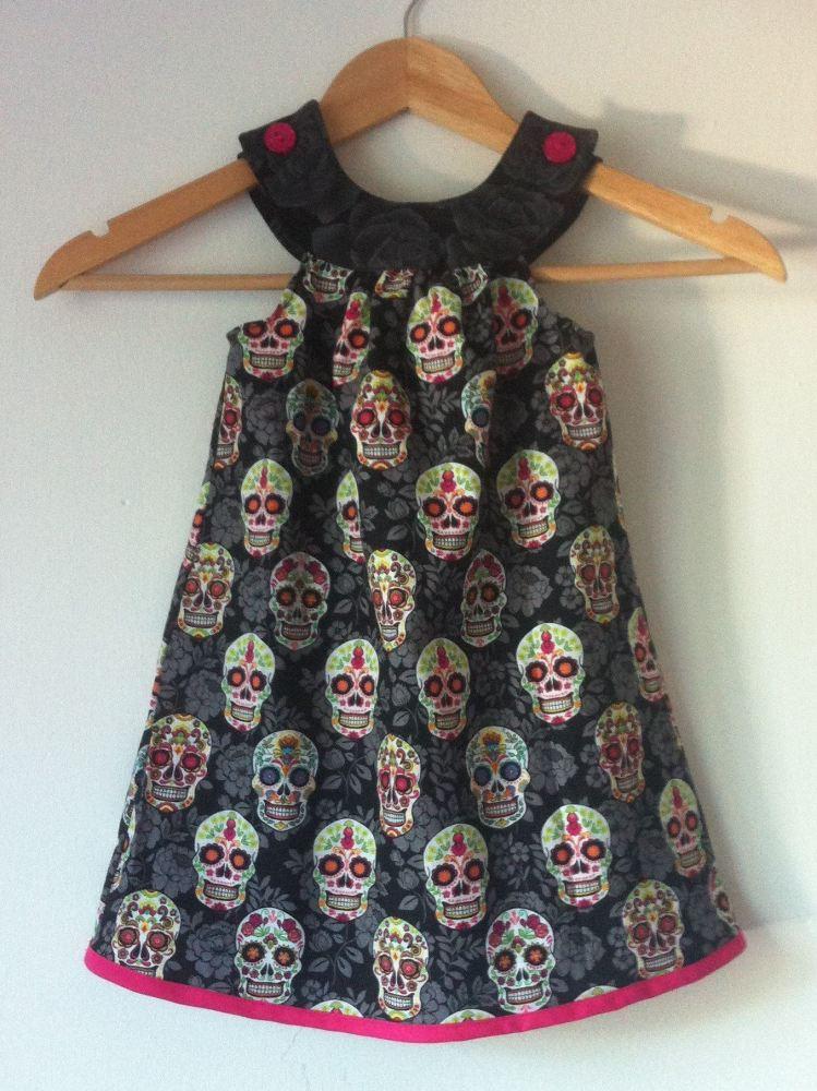 Skulls Yoke Dress