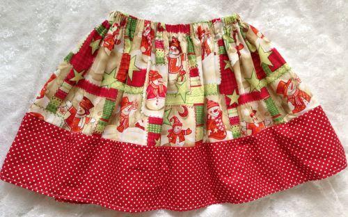 Snowman Skirt 6-7 years