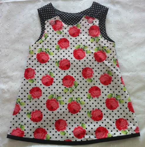 Dotty Rose Pinafore Age 2