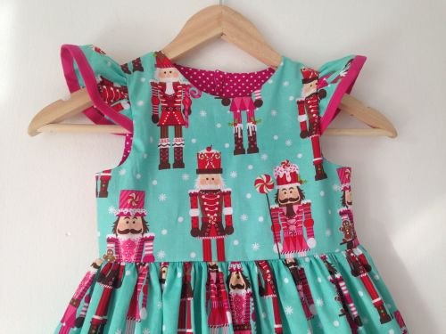 Nutcracker Fluter Sleeve dress, xmas, christams, girl, girls dresses