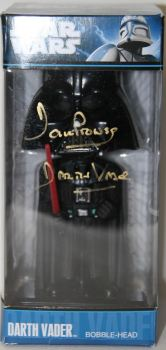 Dave Prowse Hand Signed Darth Vader Funko Bobble Head