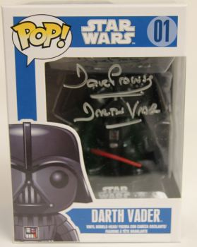 Dave Prowse Hand Signed Darth Vader Funk Pop Vinyl Figure