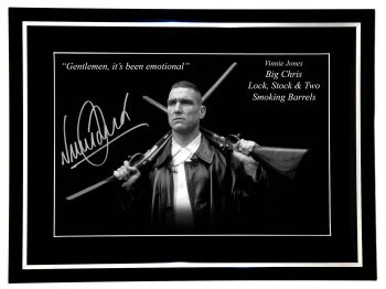 Vinnie Jones Signed And Framed Lock Stock 12x16 Photograph
