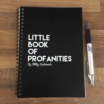 Little book of Profanities notebook (with colouring pages)