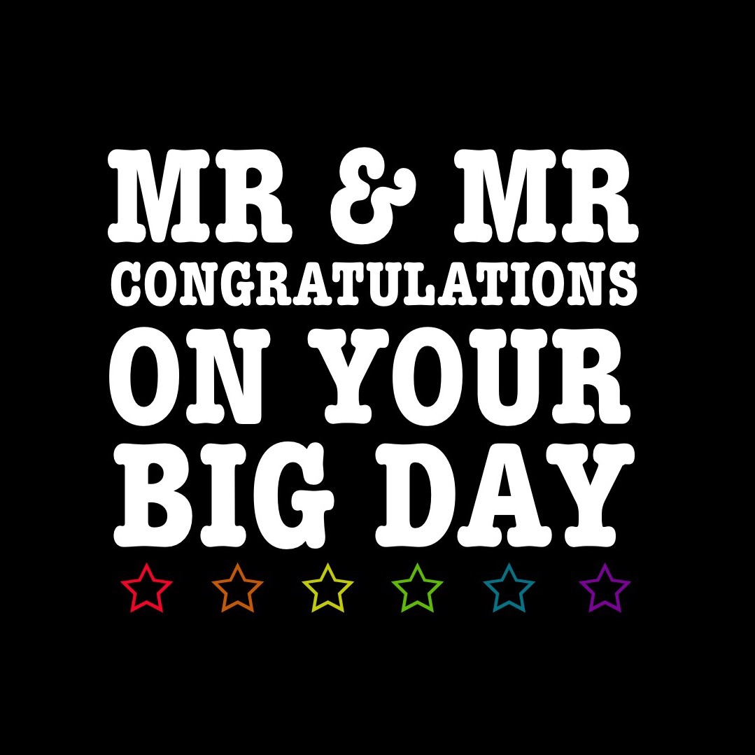 Mr & Mr congratulations on your big day (pre order)