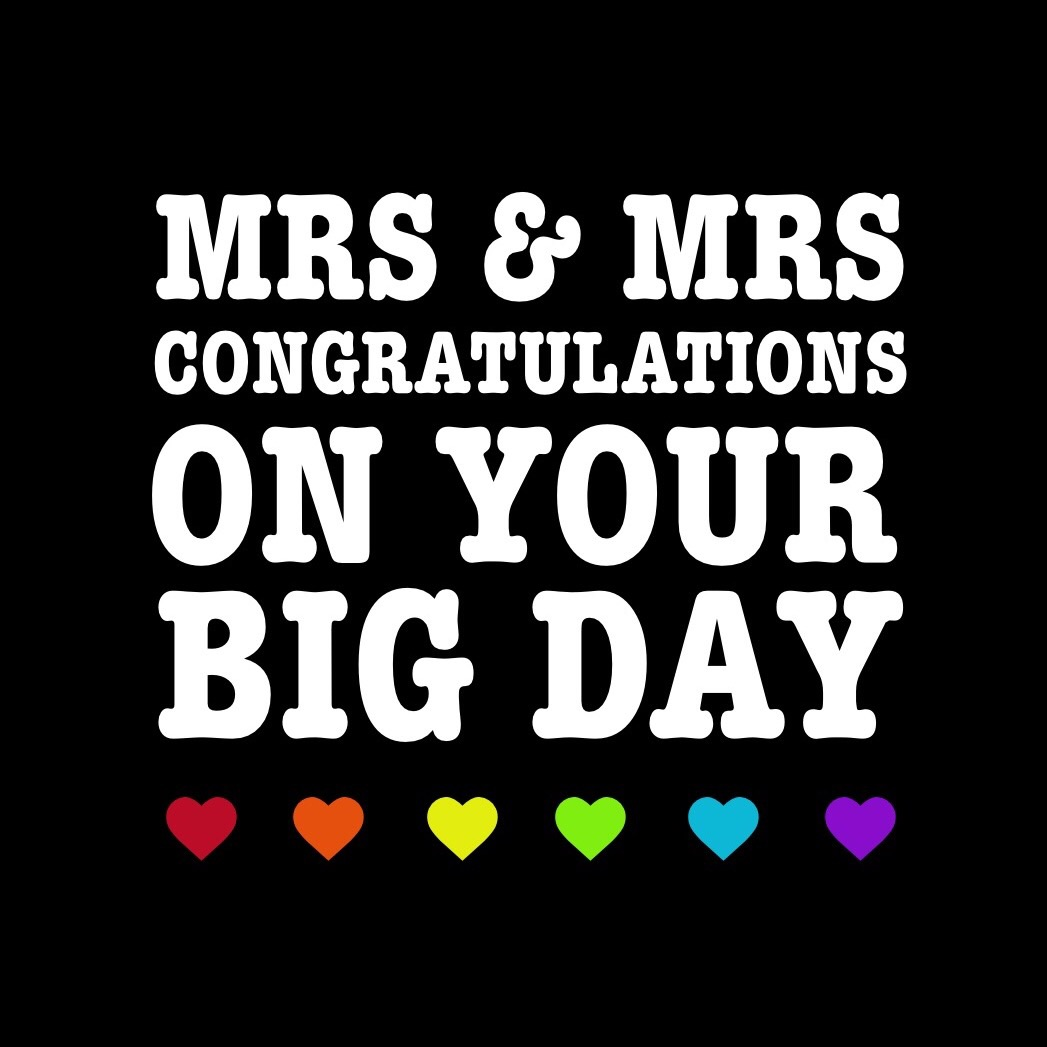 Mrs & Mrs congratulations on your big day (pre order)