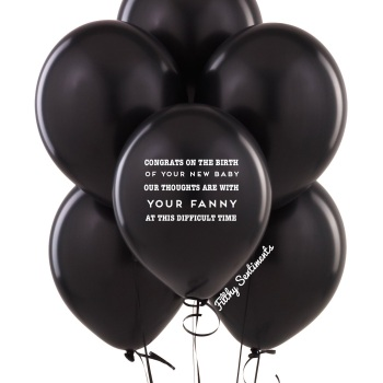 Congrats on the birth  balloons (Pack of 5)