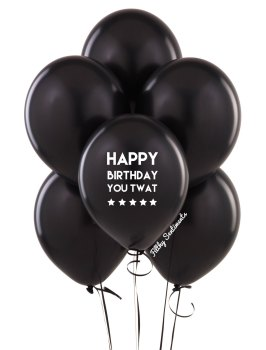 Happy birthday twat balloons (Pack of 5) - C00023