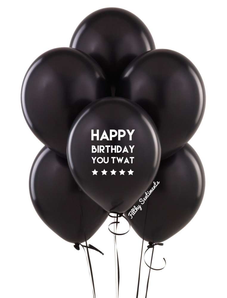Happy birthday twat balloons (Pack of 5)