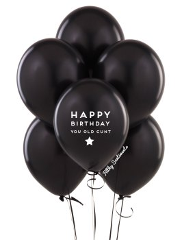 Happy birthday old cunt balloons (Pack of 5) - C00013