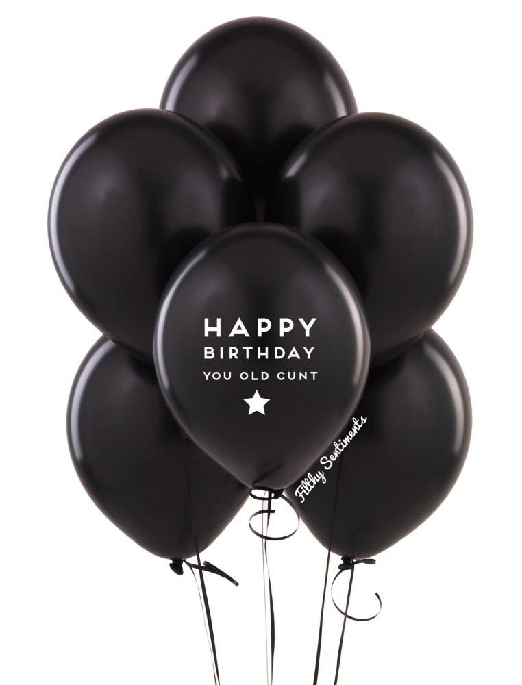 Happybirthday old cunt balloons (Pack of 5)