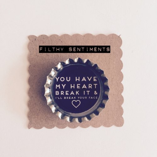Don't break my heart fridge magnet