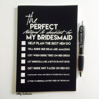 Bridesmaid notebook - D00012