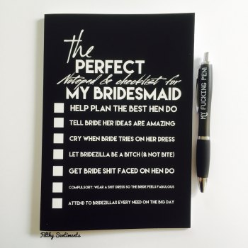 Bridesmaid notebook - D00012