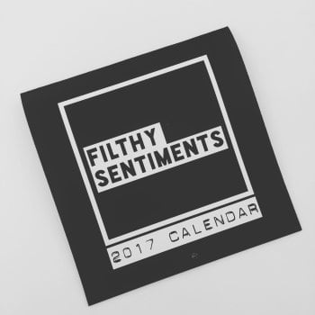 Filthy Sentiments sticker calendar 2017