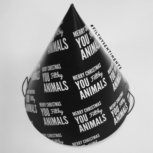 Filthy Animals party hats