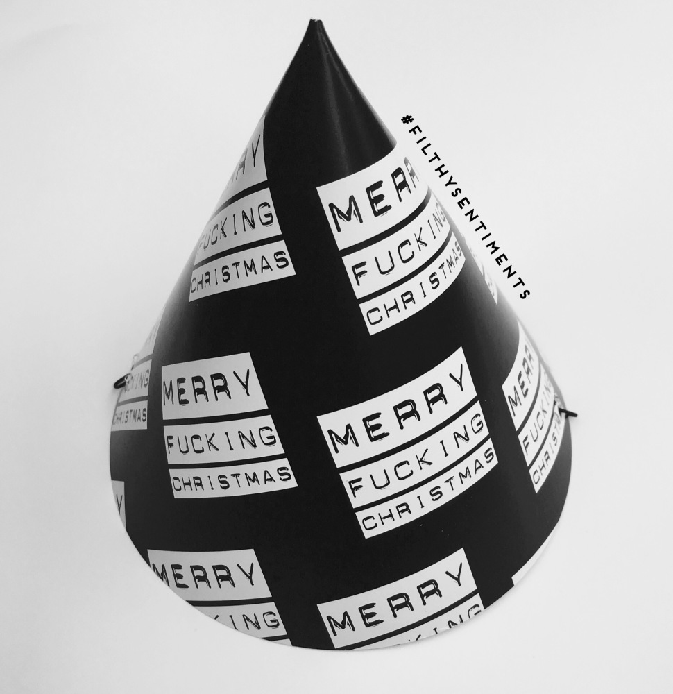 Merry Fucking Christmas party hats