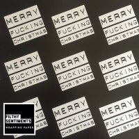 Merry Fucking Christmas wrapping paper & gift tags - Pack of 2 D00050