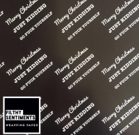 Merry Fucking Christmas wrapping paper & gift tags - Pack of 2