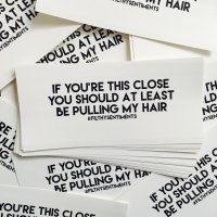 Pull My Hair Car Bumper Sticker - F00011