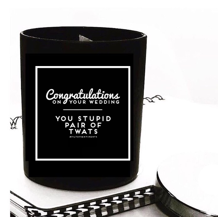 Congratulations on your wedding Candle (Pre Order)