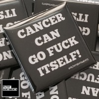 Cancer can fuck itself large square badge