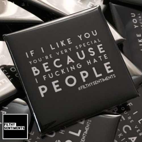 If I like you you're special large square badge
