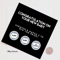 Congratulations new baby scratch card  NBSC288 G0074