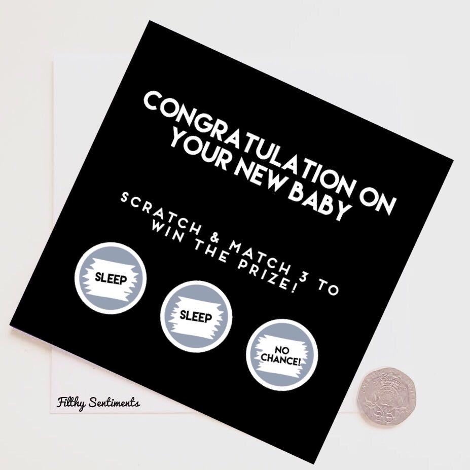 Congratulations new baby scratch card NBSC288