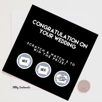 Congratulations. Marriage/No sex scratch card FS193 -  G0077