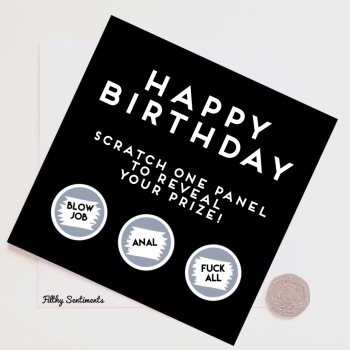 Happy Birthday Roulette Scratch Card - FS265 - G0051