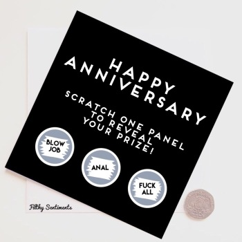 Happy Anniversary Roulette Scratch Card - FS266 - G0052