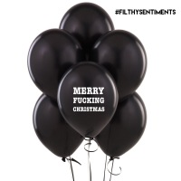 MERRY FUCKING CHRISTMAS BALLOONS (Pack of 5) D02