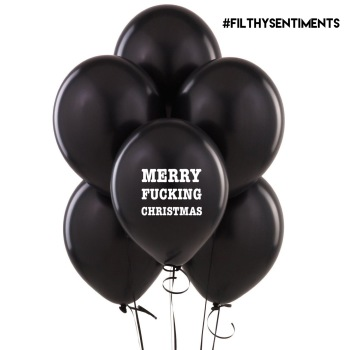MERRY FUCKING CHRISTMAS BALLOONS (Pack of 5) D0032
