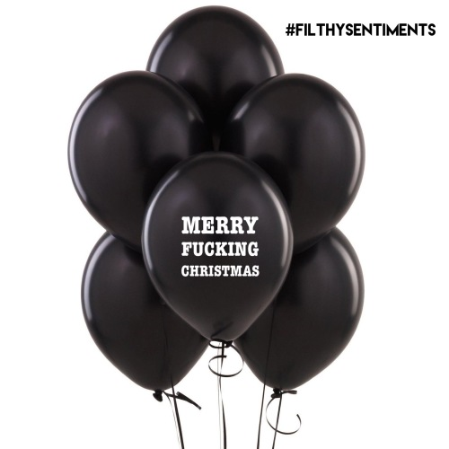 MERRY FUCKING CHRISTMAS BALLOONS (Pack of 5)