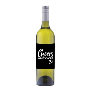 Cheers Wine Whore Wine label sticker - WL06 - F00033