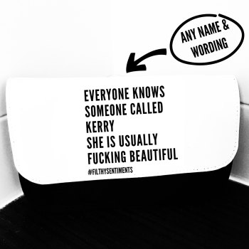 Everyone knows personalised Make up bag