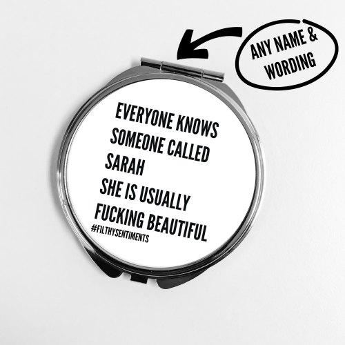 Everyone knows pocket mirror