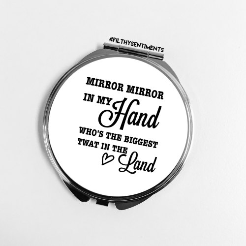 Mirror Mirror Twat pocket mirror