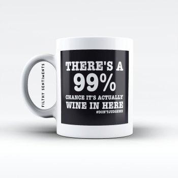 99% wine mug - M001WINE99
