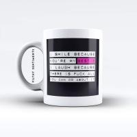 I smile because you're my bestie mug - M015BESTIE